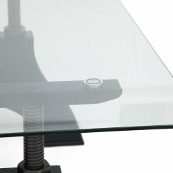 Стол обеденный ЧИВАЛЕТ CHEVALET со стеклянной столешницей